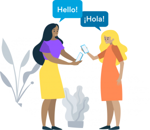 teacher and parent using talkingpoints translation in spanish