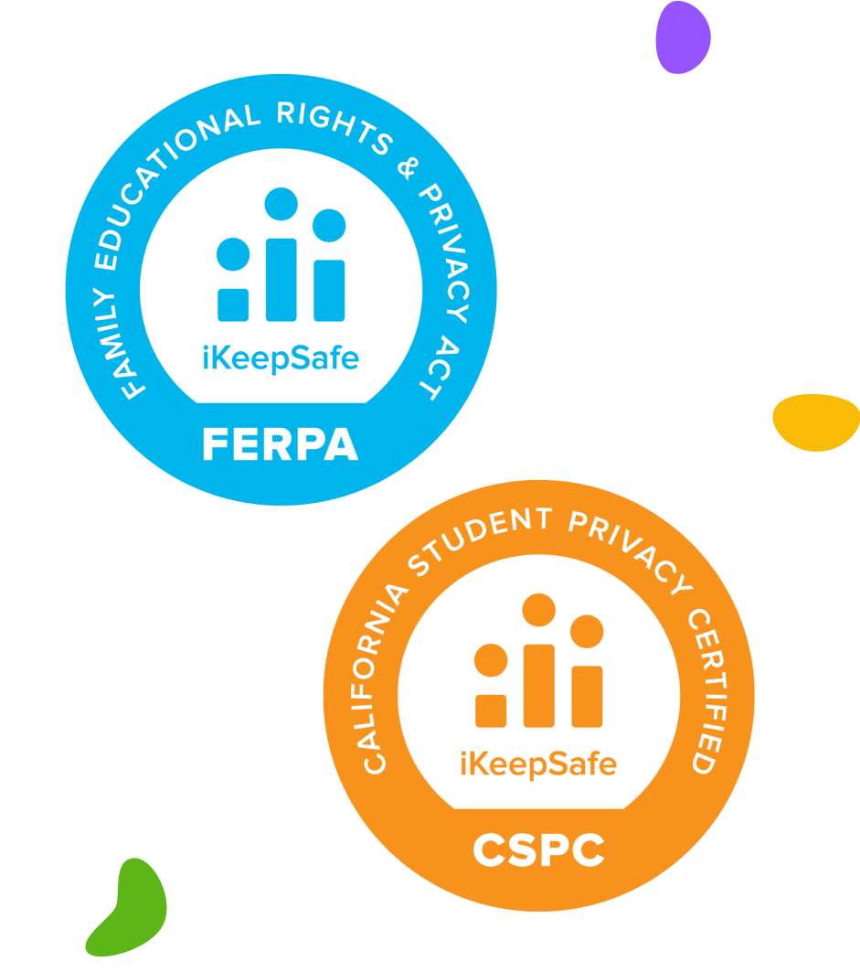Display iKeepSafe FERPA and California Student Privacy Certifications earned by the product.